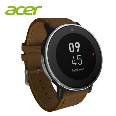 ACER 宏碁 Leap Ware 智慧運動錶 世大運聯名款 棕色錶帶 (內附藍色悠遊卡錶帶)