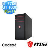 msi微星 Codex 3-025XTW i7-7700 GT1030 NO OS 電競桌機