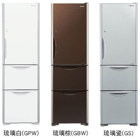 日立 HITACHI公司貨 331L 三門琉璃冰箱 RG36A /R-G36A