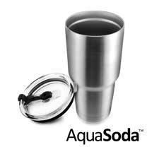 美國AquaSoda<br/> 304不鏽鋼雙層保溫保冰杯二入組