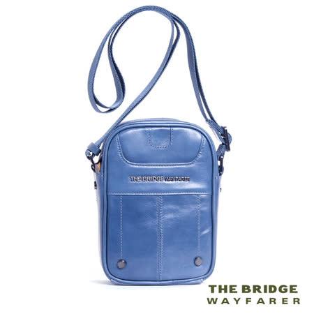 【義大利 THE BRIDGE Wayfarer系列】FANCY 全皮 側背包-義大利牛皮製