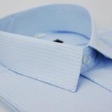 【金安德森】藍底黑線吸排短袖襯衫