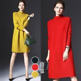 【歐風KEITH-WILL 】M~3XL限量歐系時尚簡潔風毛料洋裝