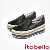 itabella.漸層水鑽厚底懶人包鞋(7563-90黑)