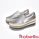 itabella.漸層水鑽厚底懶人包鞋(7563-80銀)