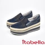 itabella.漸層水鑽厚底懶人包鞋(7563-50藍)