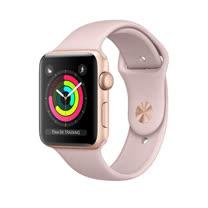 Apple Watch Series 3 GPS,42 公釐金色鋁金屬錶殼搭配粉沙色運動型錶帶 _ 【贈專用螢幕寶貼+保護套】