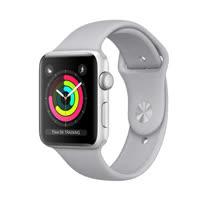 Apple Watch Series 3 GPS,42 公釐銀色鋁金屬錶殼搭配薄霧灰色運動型錶帶 _ 【贈專用螢幕保貼+保護套】