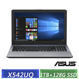 ASUS VivoBook 15 X542UQ (i5-8250U/15.6吋FHD/940MX 2G/1TB+128G SSD/W10/霧面灰) 獨顯效能筆電