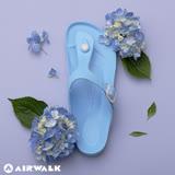AIRWALK(女) -AB拖 EVA中性T字羅馬夾腳拖鞋-島嶼天堂藍