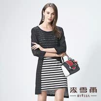 【麥雪爾】黑白條紋兩件式上衣