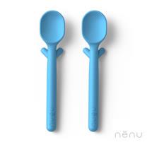 美國 NENU FAMILY 寶寶安全精品湯匙組 (藍色 - 2入)