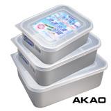 日本製AKAO 急速冷凍冷藏解凍保鮮盒(3.2L+1.8L+1.2L)