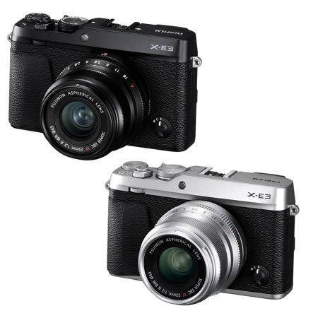 FUJIFILM X-E3 + 23mm 定焦鏡組 (公司貨)-送原廠電池+清潔組+保護貼
