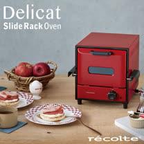recolte 日本麗克特 Delicat 電烤箱經典紅