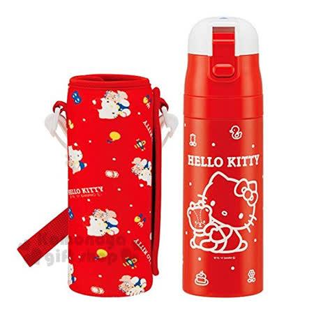 小禮堂Hello Kitty 不鏽鋼保溫瓶470ml