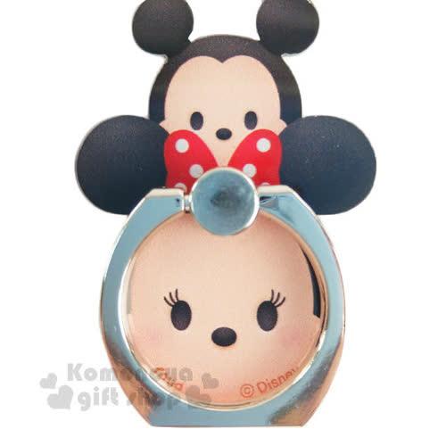 〔小禮堂〕迪士尼 Tsum Tsum 壓克力手機指環架~米奇米妮.堆疊~可360度旋轉