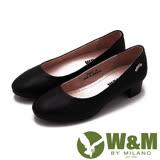 W&M Lady系列 優雅演繹 氣質淑女水鑽低跟 女鞋-黑