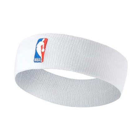 NIKE NBA DRI-FIT 單色頭帶-客場-髮帶 慢跑 一只入 籃球 飛人喬丹 白紅藍 F