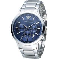 ARMANI 亞曼尼 Classic 時尚計時腕錶 AR2448 藍