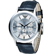 ARMANI 亞曼尼 Classic 簡約內斂計時腕錶 AR2432