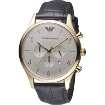 ARMANI 亞曼尼  Classic 復刻計時時尚腕錶 AR1892 金色