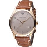 ARMANI 亞曼尼  Classic 紳士復刻經典腕錶 AR1866 咖啡