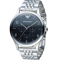 ARMANI 亞曼尼 Classic 簡約品味計時腕錶 AR1863 黑