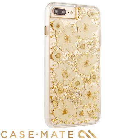美國 Case-Mate iPhone 8 Plus / 7 Plus Karat Petals 璀璨真實花朵防摔手機保護殼 - 古典白