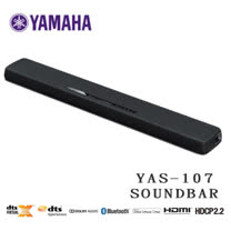 YAMAHA SoundBar YAS-107 前置環繞 藍芽無線家庭劇院