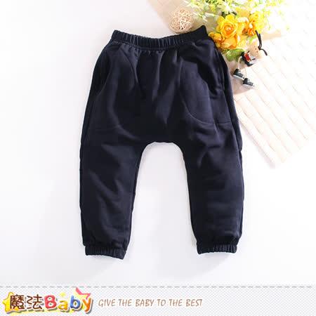 魔法Baby 兒童長褲 舒適束口休閒運動長褲 k60417