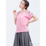 CANTWO民俗風刺繡棉T(共二色)