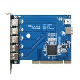 伽利略 PCI To USB2.0 6 Port 擴充卡(NEC晶片)(PTU05NA)