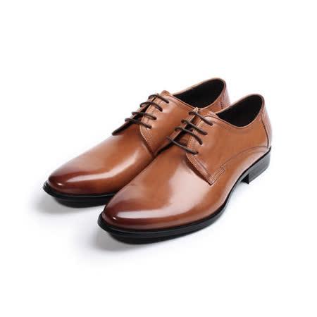 (男) Jason House 真皮素面德比鞋 棕 男鞋 鞋全家福