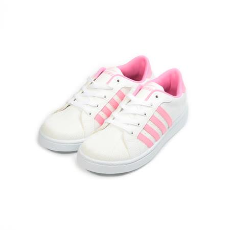 (女) SPEED 經典貝殼滑板鞋 白粉 女鞋 鞋全家福