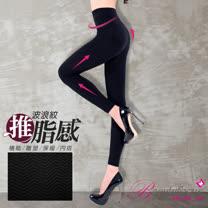 【BeautyFocus】台灣製波紋按摩提臀保暖九分褲-2373黑色