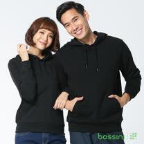 bossini男裝-連帽厚棉T恤17黑