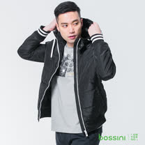 bossini男裝-連帽舖棉外套01黑