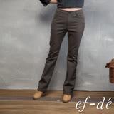 【ef-de】激安 素色百搭長直筒褲(深咖啡)