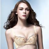 【華歌爾】伊珊露絲Ribbon Bra華麗刺繡蕾絲B-D罩杯內衣(蝴蝶黃)