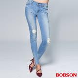 BOBSON 女款1971日本進口黑標小直筒褲(BSR006-FE)