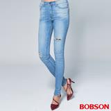 BOBSON 女款1971日本進口黑標小直筒褲(BSR010-FE)