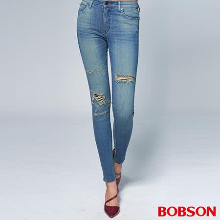 BOBSON 女款1971日本進口黑標小直筒褲(BSR010-WD)