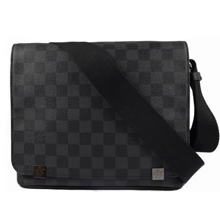 Louis Vuitton LV N41028 DISTRICT PM 黑棋盘格纹斜背包 现货