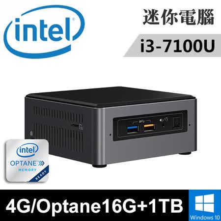 Intel NUC7i3BNH-OP161T 特仕版 迷你電腦(i3-7100U/4G/Optane16G+1T/WIN10)