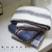 【クロワッサン科羅沙】日本今治~Kontex LA編織千鳥格浴巾 57*117cm