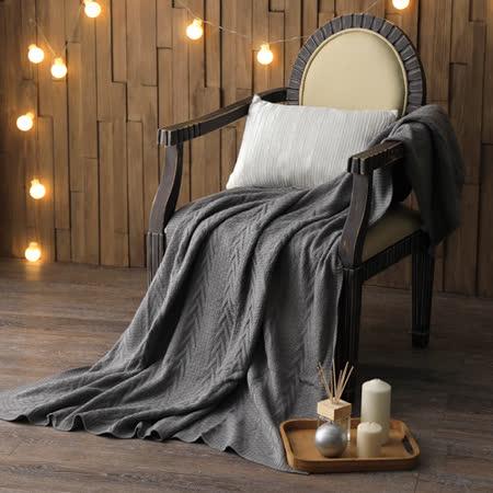 MONTAGUT-针织毛线毯(灰)