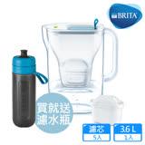 【德國BRITA】Style 3.6L純淨濾水壺+4入MAXTRA Plus濾芯_藍色(共5芯)