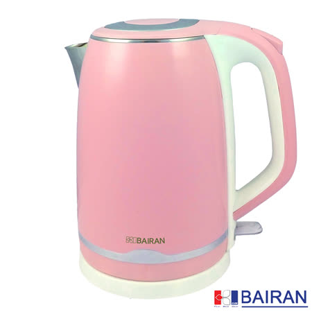 福利品【白朗BAIRAN】雙層防燙2L不鏽鋼快煮壺 FBTF-E05