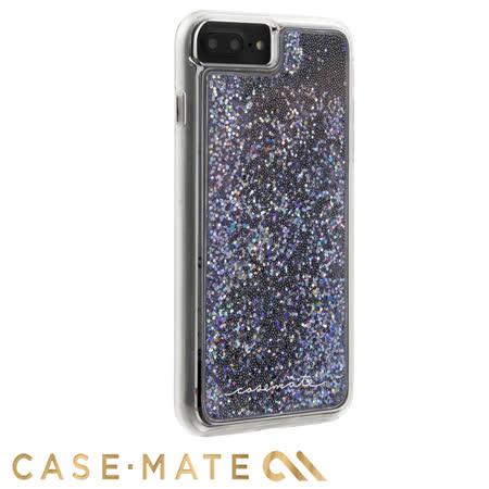 美國 Case-Mate iPhone 8 Plus / 7 Plus Waterfall 亮粉瀑布防摔手機保護殼 - 黑